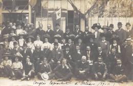CARTE PHOTO 45  ESPERANTO CONGRES ESPERANTISTE D ORLEANS 1910 - France