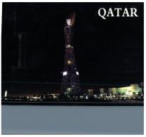 (219) Qatar - Doha Aspire Tower At Night - Qatar