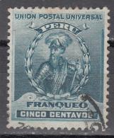 PERU   SCOTT NO  145   USED   YEAR  1896 - Peru