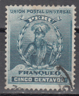 PERU   SCOTT NO  147   USED   YEAR  1896 - Peru