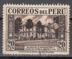 PERU   SCOTT NO  365   USED   YEAR  1936 - Peru