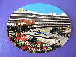 HOTEL RESIDENCIA PALOMAS TORREMOLINOS CANARY ISLAS SPAIN LUGGAGE LABEL ETIQUETTE AUFKLEBER DECAL STICKER Madrid - Hotel Labels