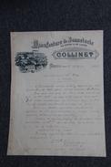 Facture Ancienne, MOREUIL - Manufacture De Bonneterie, De Coton Et De Laine, COLLINET. - 1800 – 1899