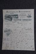 Facture Ancienne, TROYES - Fabrique De Bonneterie VITOUX DERREY. - 1800 – 1899