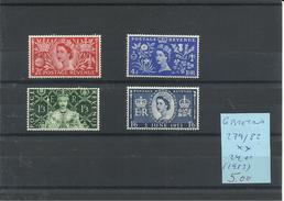 GRAN BRETAÑA YVERT  279/82    MNH  ** - 1952-.... (Elizabeth II)