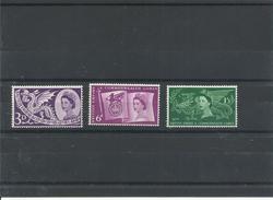 GRAN BRETAÑA YVERT  302/04  MNH  ** - 1952-.... (Elizabeth II)