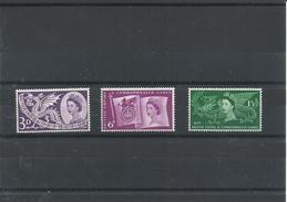 GRAN BRETAÑA YVERT  302/04  MH  * - 1952-.... (Elizabeth II)