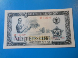 Albanie Albania 25 Leke 1964 P37a UNC - Albanie