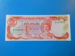 Belize 5 Dollars 1989 P47b UNC - Belize