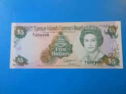 Cayman Islands Iles Cayman 5 Dollars 1991 P12a UNC - Billets