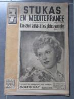 Revue 7 Jours - 26 Janv 1941 - Josette DAY Par Pagnol - Guerre Méditérannée - A Bord D'un Destroyer - Livres, BD, Revues