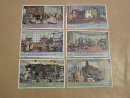 HET VERVAARDIGEN VAN EEN TIJDSCHRIFT Liebig Série Reeks 6 Chromos Trading Cards Chromo - Liebig