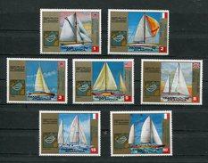 1972  GUINEE EQUATORIALE BATEAUX LES VOILIERS DE LA TRANSATLANTIQUE  SERIE COMPLETE NEUVE - Ships