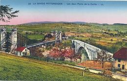 """Les Deux Ponts De La Caille """"La Savoie Pittoresque"""" CPA - France"""