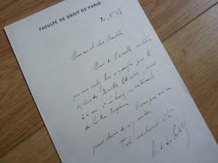 Albert DE GOUFFRE DE LA PRADELLE (1871-1955) Juriste DROIT INTERNATIONAL - Autographe - Autogramme & Autographen