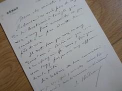 Jacques HEBRARD (1841-1917) Sénateur CORSE & Etablissements En INDE - Autographe - Autographes