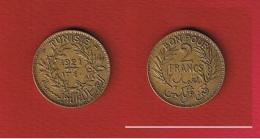 Tunisie  --  2 Francs 1921  --  KM # 248 --  état  TTB - Tunisie