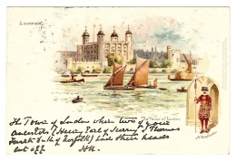 LONDON - The Tower Of London - A Beefeater - Ed. Raphael TUCK & Sons, ´View´ Postcard N° 1 - Tuck, Raphael