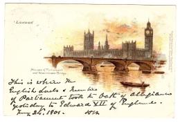 LONDON - Houses Of Parliament And Westminster Bridge - Ed. Raphael TUCK & Sons, ´View´ Postcard N° 7 - Tuck, Raphael