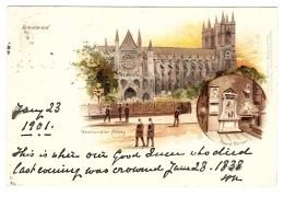 LONDON - Westminster Abbey - Ed. Raphael TUCK & Sons, ´View´ Postcard N° 5 - Tuck, Raphael