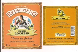 """Etiquette Liqueur Mombin """" Prune Des Antilles """"  - Musée Du Rhum - """" Corsaire """"100 Cl - 25° -  GUADELOUPE - - Rhum"""