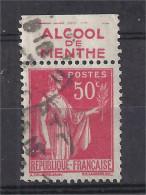 France - Carnets - Pub - Paix 50 C Rouge - Yvert N° 283 - Type IV - RICQLES Menthe - Oblitéré - Publicidad