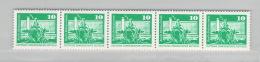R DDR Michel # 1868  5x Rollenmarken, 1x Mit Nummer  ** - DDR