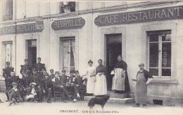 Cpa -52- Chaumont -animée-café De La Rue Jeanne D'arc-edi Beurville - Chaumont