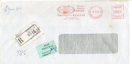 1980--Lettre Recommandée EMA Transcap Transit Douane De Carquefou Tertre GA-44 Pour REZE-44-griffe Linéaire CARQUEFOU - 1961-....