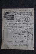 Facture Ancienne, MARSEILLE - Manufacture De Caoutchouc Et Gutta Percha, Armand PONCELET. - 1800 – 1899