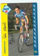 Paolo ALBERATI , Autographe Manuscrit, Dédicace . 2 Scans. Cyclisme. Mapei - Cyclisme