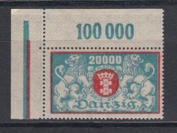 (04173) Danzig 148 Ungebraucht Mit Falz Eckrand Oben Links Feld 1 D Mit Feinem Anstrich - Danzig