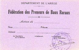 Federation Des Preneurs De Baux....departement De L Ariege... - Alte Papiere