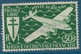 AEF  - Aérien   -  Yvert N° 27 Oblitéré - Ava13411 - A.E.F. (1936-1958)