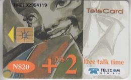 NAMIBIE - PHONE CARD - TAXCARD -CHIP     ***  VISAGE D' ENFANT  ***