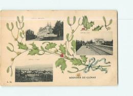 CLONAS - SOUVENIR En 3 Vues  : Château Des Rozons, Gare P.L.M. Et Vue Générale  - 2 Scans - Unclassified