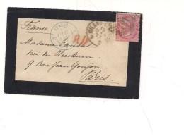 6581 DE LA RUE 40c Isolato 1873 Milano Trieste Cover Italy Storia Postale - 1861-78 Vittorio Emanuele II