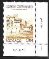 Monaco 2016 - Yv N° 3060 ** - Les Annales Monégasque (coin Daté) - Unused Stamps