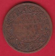 Indes Britanniques - 1/4 Anna 1862 - Inde
