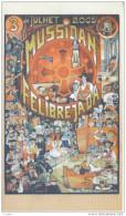 FELIBREE DE MUSSIDAN LE 3 JUILLET  2005  CARTON MENU DU  REPAS 86 EME FELIBREJADA DAU BORNAT DAU PERIGORD  LA TAULADA - Mussidan