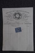Facture Ancienne, PERPIGNAN - Habillage Et Vente D'Horlogerie De Précision, André ABADIE. - 1800 – 1899