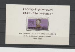 Äthiopien Block 1, 75. Geburtstag 1967 **  MNH - Äthiopien