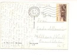 6624 Cartolina 1956 Turistica Taormina Isolato X Estero £35 - 1946-.. République