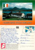 Cottages, Ireland Postcard Posted 1990 Stamp - Irlande