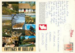 Cottages, Ireland Postcard Posted 1995 Stamp - Irlande