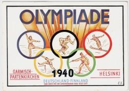 1940, OLYMPIADE - Garmisch - Helsinki ,  #6511 - Deutschland
