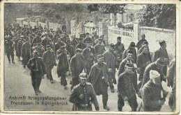 Feldpostkarte Von Königsbrück Nach Leipzig-Lindenau: Ankunft Kriegsgefangener Franzosen In Königsbrück - Cartes Postales