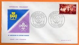 MADAGASCAR  1964  SCOUTISME MALGACHE  Lettre Entière  N° O 963 - Brieven En Documenten