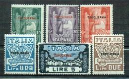 Italienisch-Tripolitanien 1923 Marsch Auf Rom Sassone 5-10 Postfrisch MNH - Tripolitania
