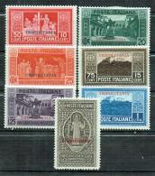 Italienisch-Tripolitanien 1929 Montecassino Sassone N° 54-60 MLH - Tripolitania